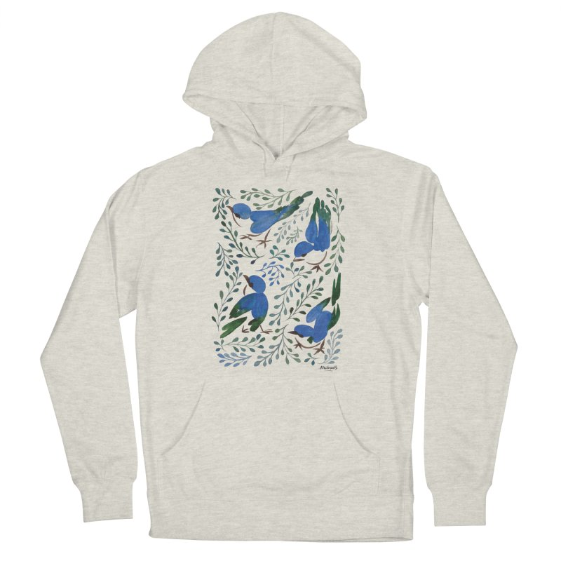 Birds in Summer Women's French Terry Pullover Hoody by milenabdesign's Artist Shop
