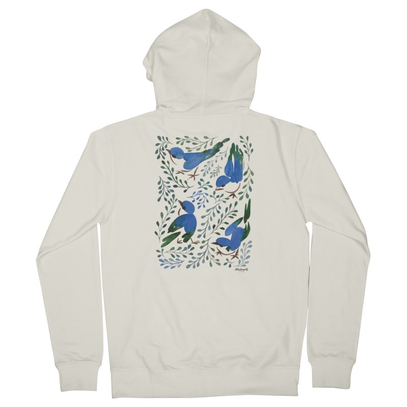 Birds in Summer Men's Zip-Up Hoody by milenabdesign's Artist Shop