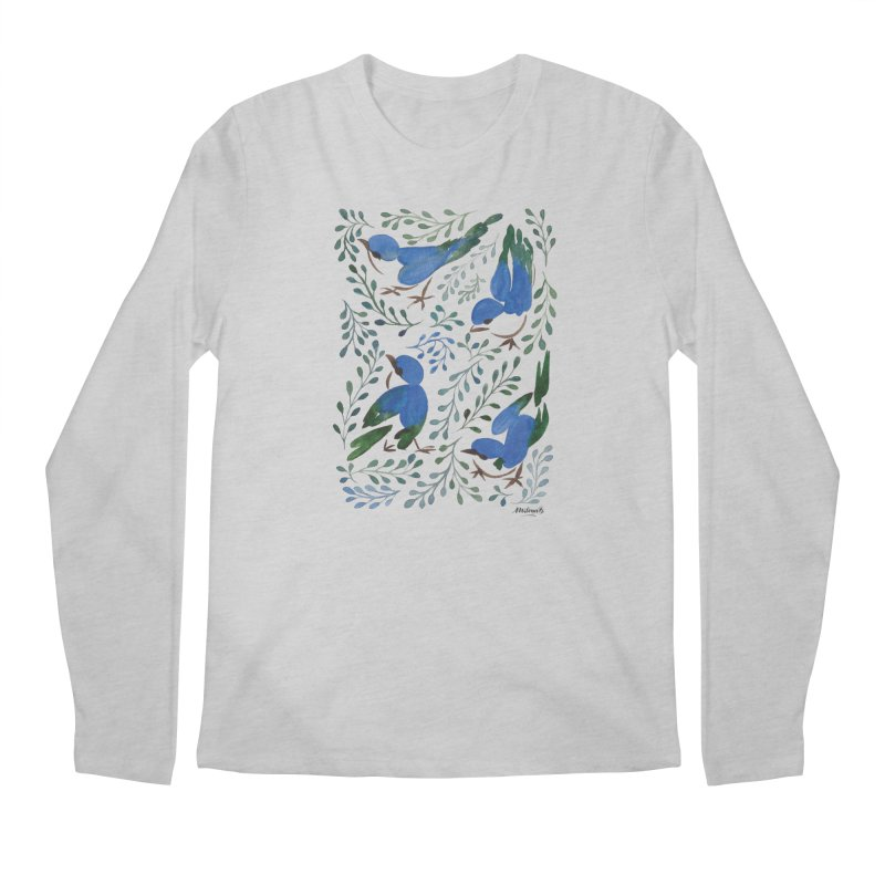 Birds in Summer Men's Regular Longsleeve T-Shirt by milenabdesign's Artist Shop