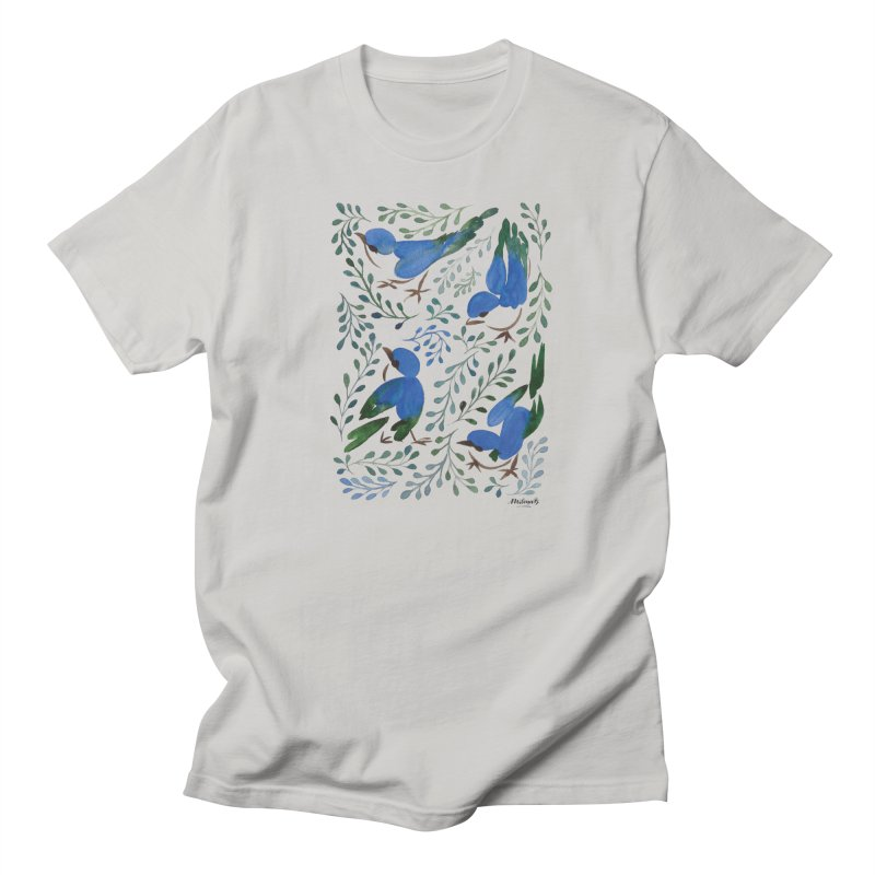 Birds in Summer Men's Regular T-Shirt by milenabdesign's Artist Shop