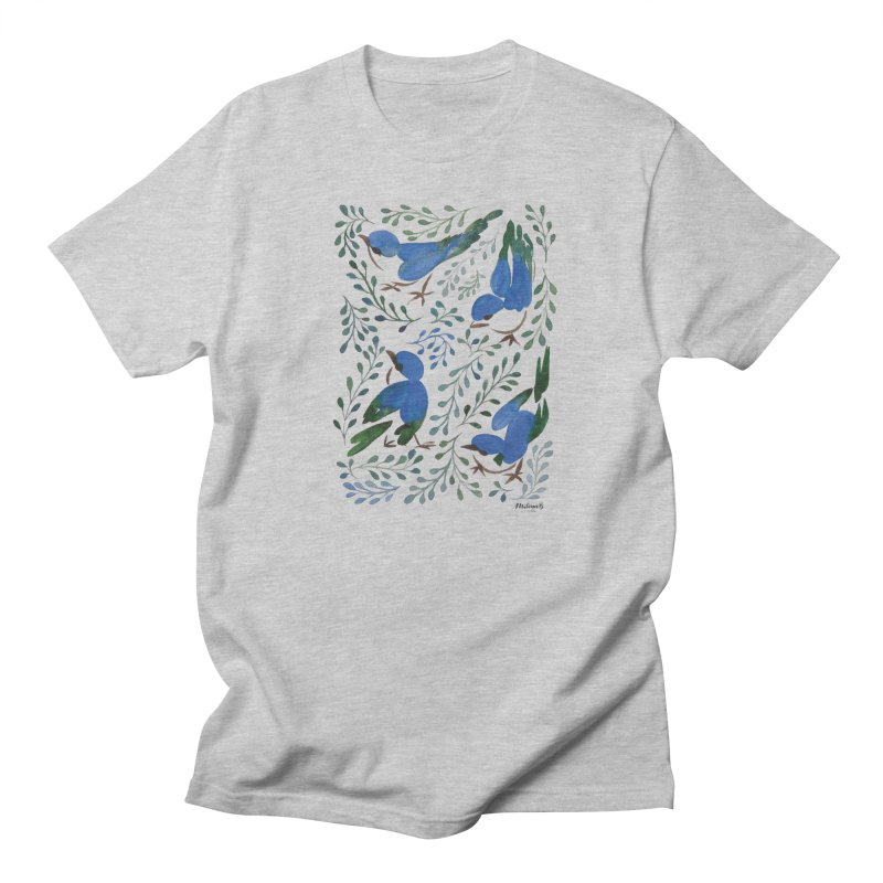 Birds in Summer Men's T-Shirt by milenabdesign's Artist Shop