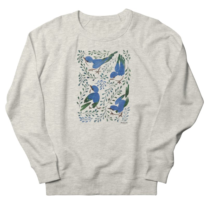 Birds in Summer Women's French Terry Sweatshirt by milenabdesign's Artist Shop