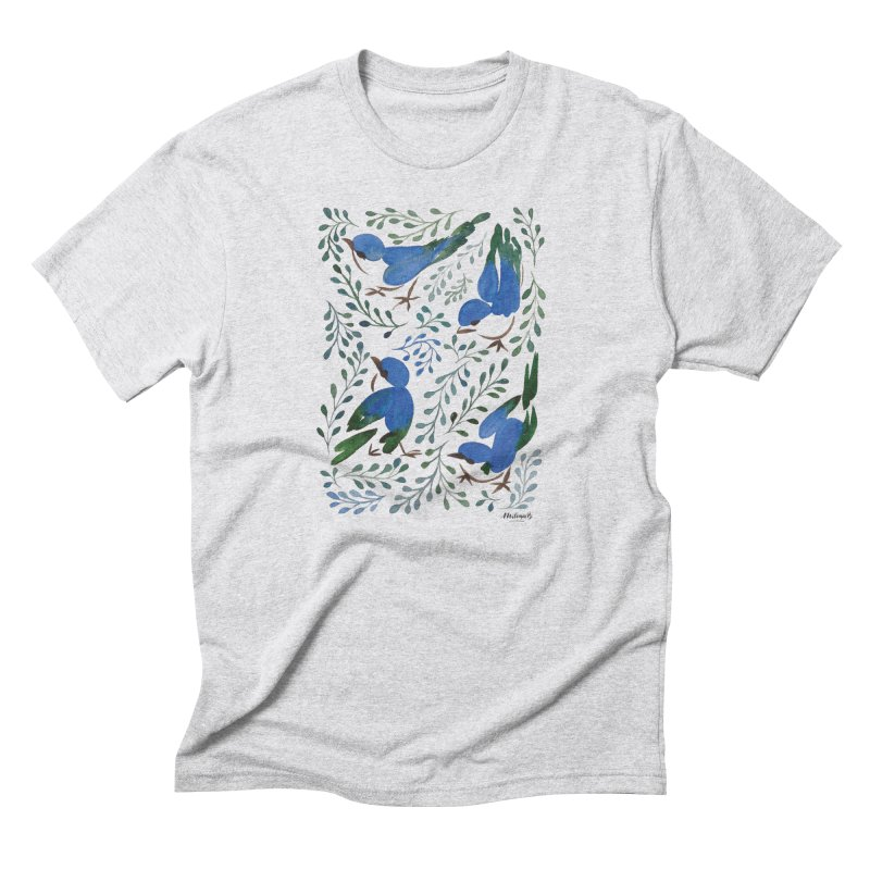 Birds in Summer Men's Triblend T-Shirt by milenabdesign's Artist Shop