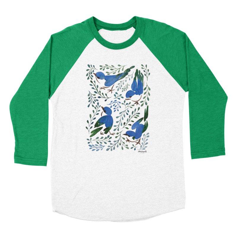Birds in Summer Women's Baseball Triblend Longsleeve T-Shirt by milenabdesign's Artist Shop