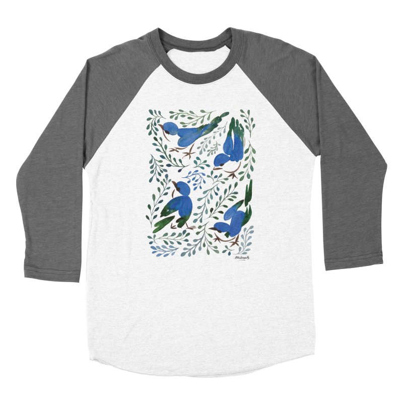 Birds in Summer Men's Baseball Triblend Longsleeve T-Shirt by milenabdesign's Artist Shop