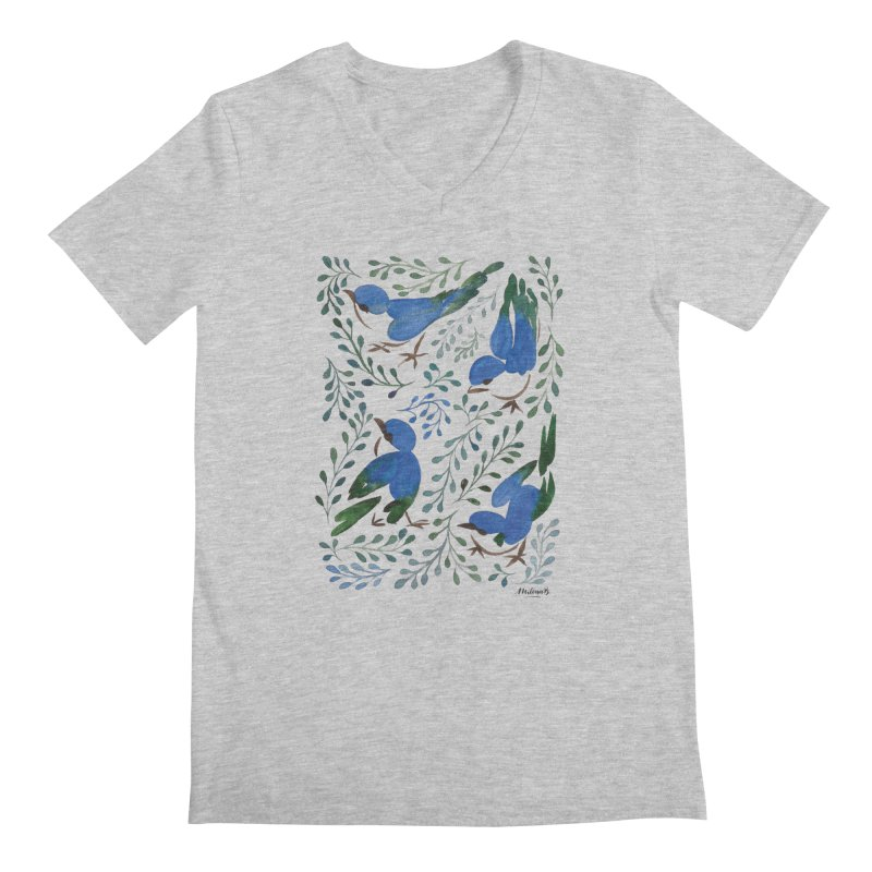 Birds in Summer Men's Regular V-Neck by milenabdesign's Artist Shop