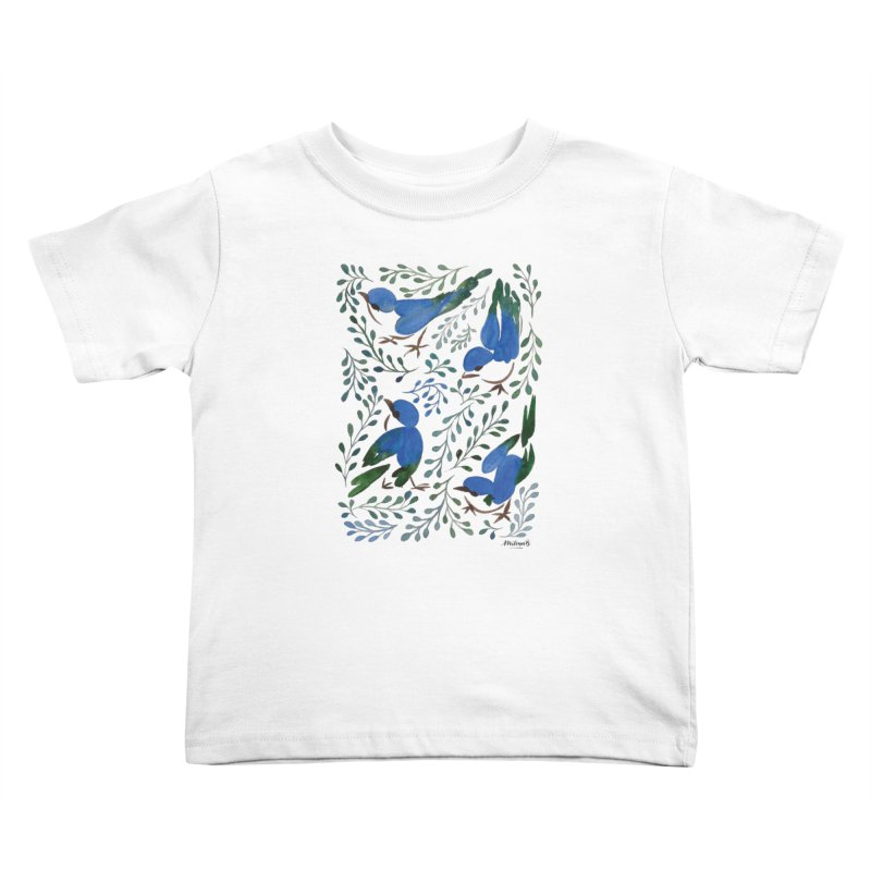 Birds in Summer Kids Toddler T-Shirt by milenabdesign's Artist Shop