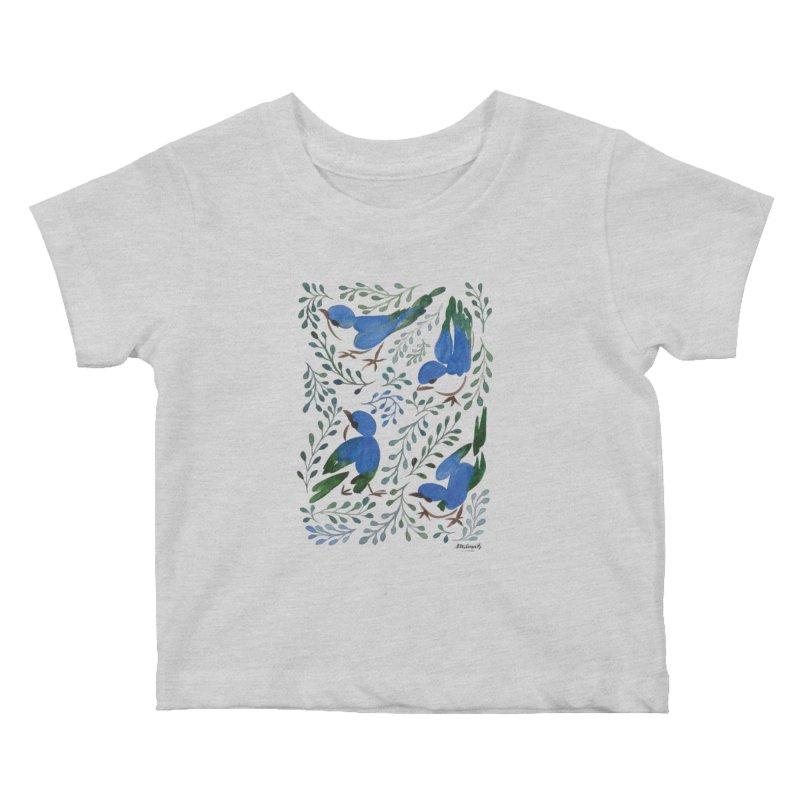 Birds in Summer Kids Baby T-Shirt by milenabdesign's Artist Shop