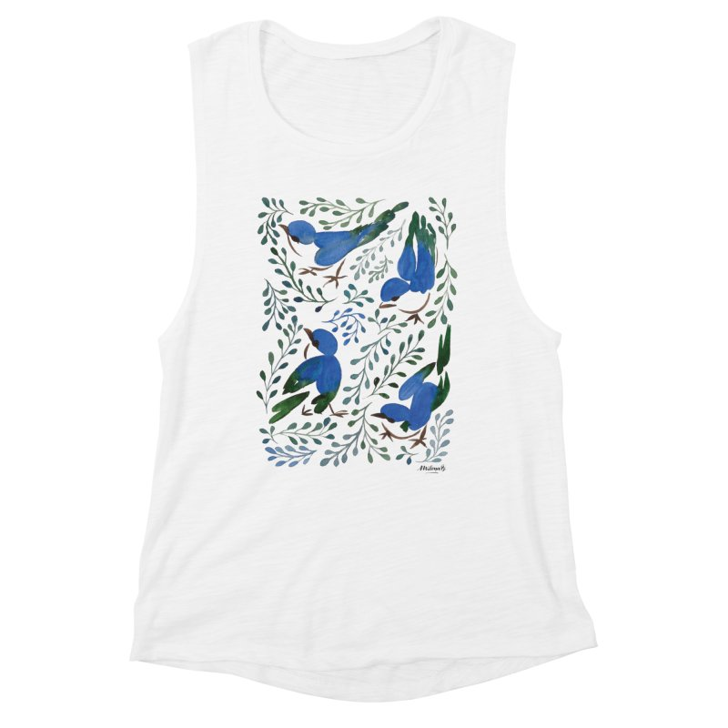 Birds in Summer Women's Tank by milenabdesign's Artist Shop