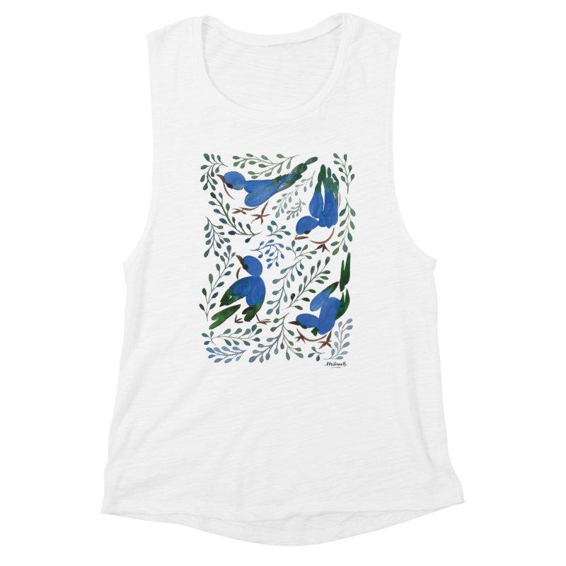 Birds in Summer Women's Muscle Tank by milenabdesign's Artist Shop
