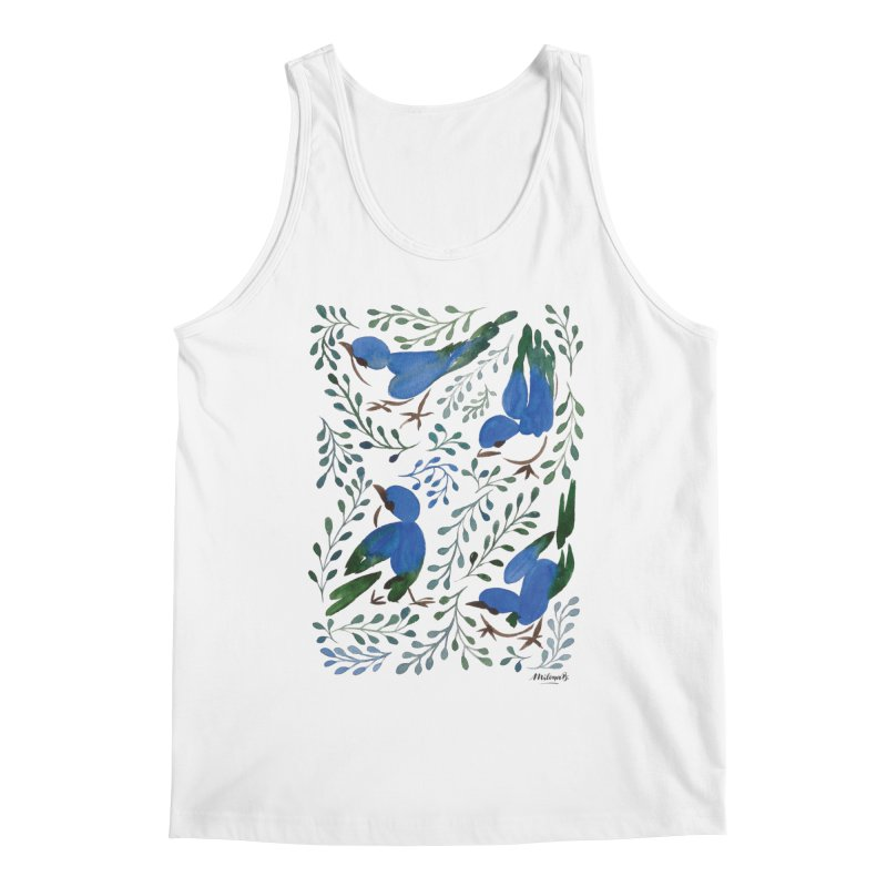Birds in Summer Men's Tank by milenabdesign's Artist Shop