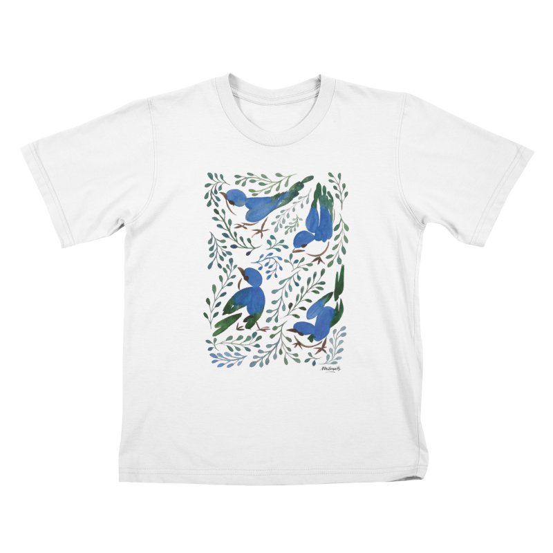 Birds in Summer Kids T-Shirt by milenabdesign's Artist Shop