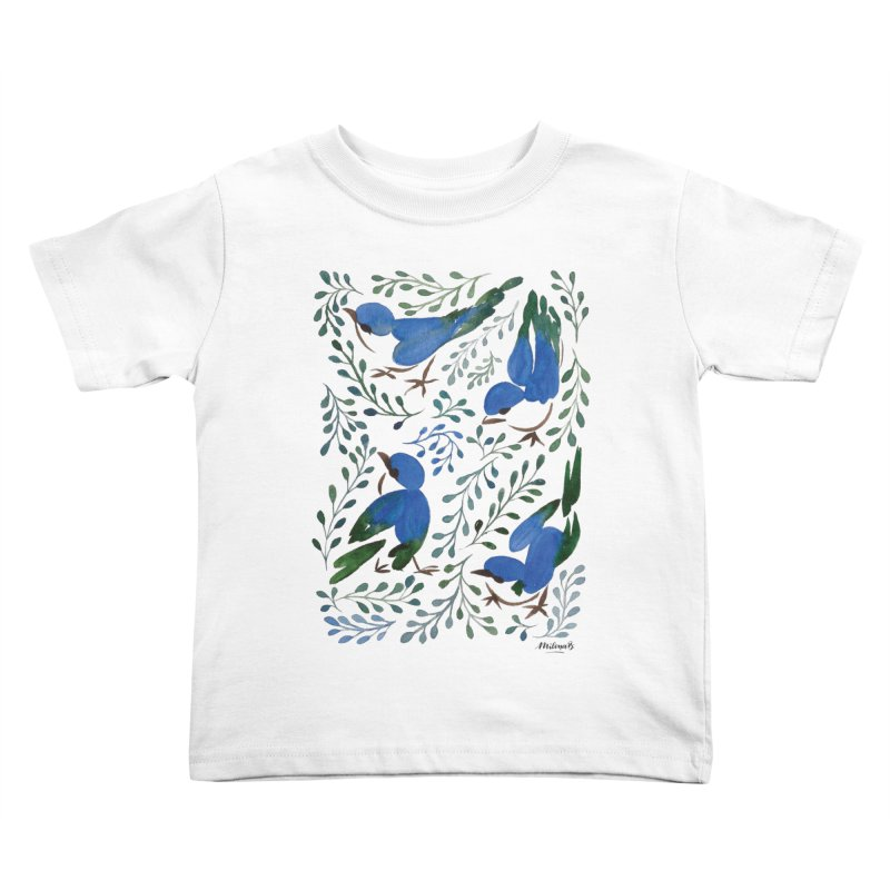 Birds in Summer Kids Toddler T-Shirt by milenabdesign's Artist Shop