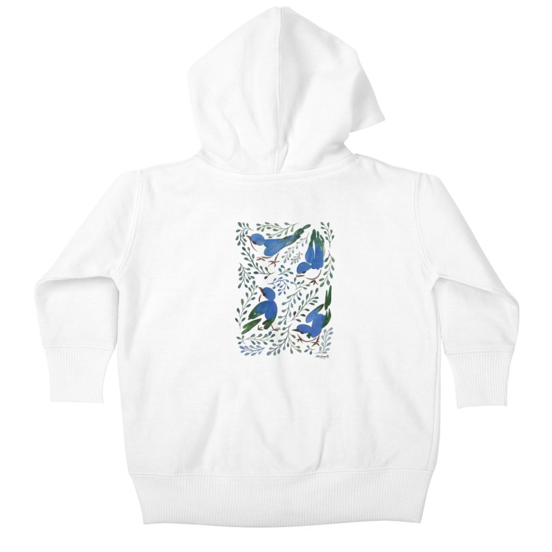 Birds in Summer Kids Baby Zip-Up Hoody by milenabdesign's Artist Shop