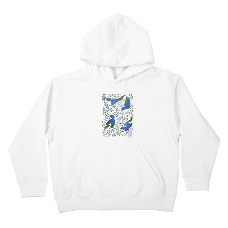 Birds in Summer Kids Pullover Hoody by milenabdesign's Artist Shop