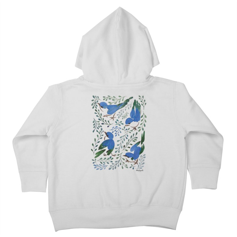 Birds in Summer Kids Toddler Zip-Up Hoody by milenabdesign's Artist Shop