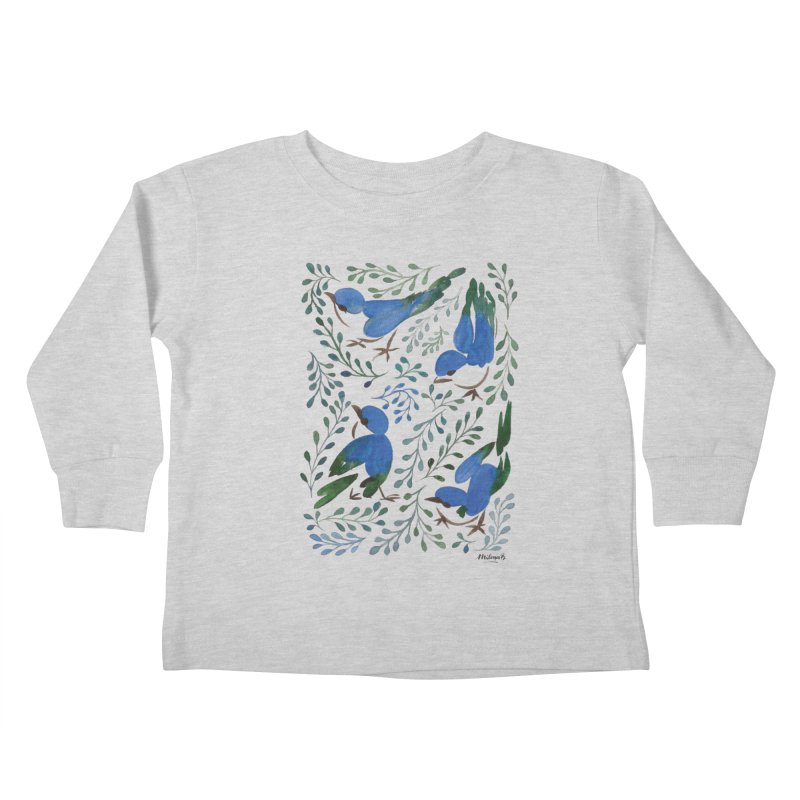 Birds in Summer Kids Toddler Longsleeve T-Shirt by milenabdesign's Artist Shop
