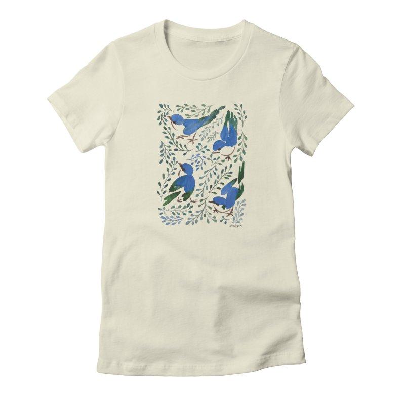 Birds in Summer Women's T-Shirt by milenabdesign's Artist Shop