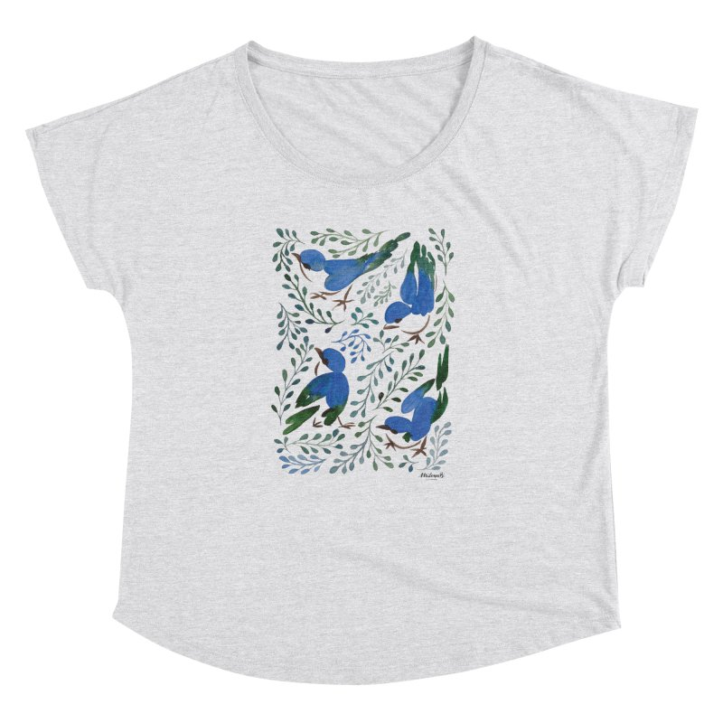 Birds in Summer Women's Dolman Scoop Neck by milenabdesign's Artist Shop