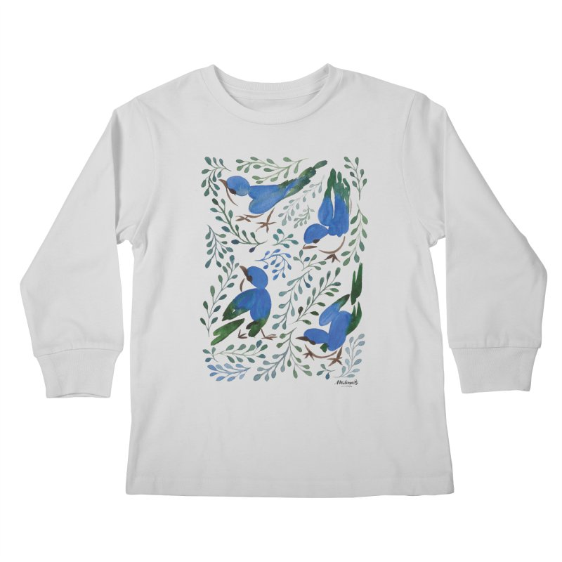 Birds in Summer Kids Longsleeve T-Shirt by milenabdesign's Artist Shop