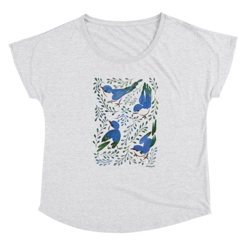 Birds in Summer Women's Scoop Neck by milenabdesign's Artist Shop