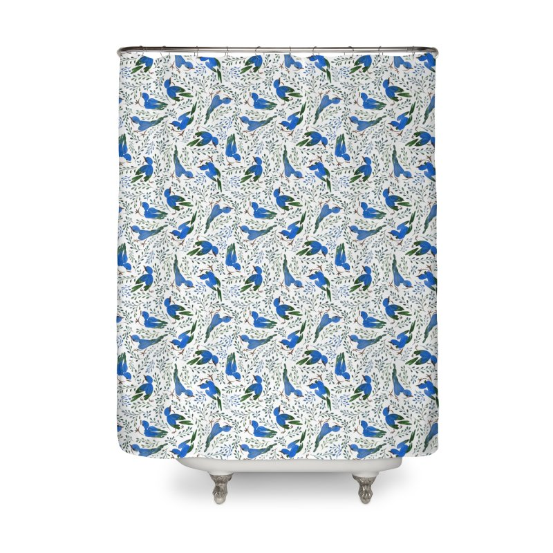 Birds in Summer Home Shower Curtain by milenabdesign's Artist Shop