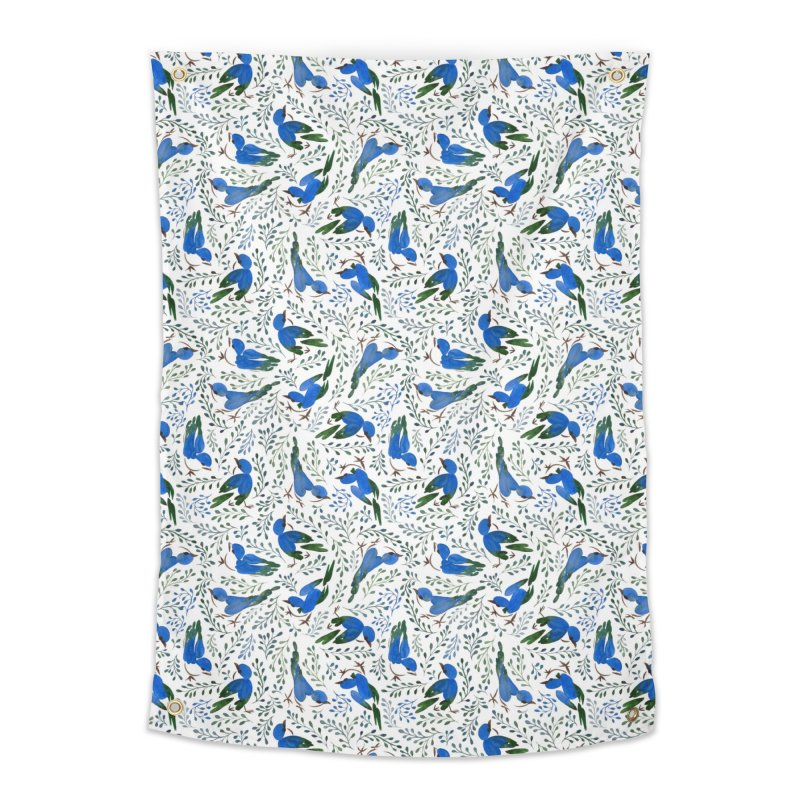 Birds in Summer Home Tapestry by milenabdesign's Artist Shop