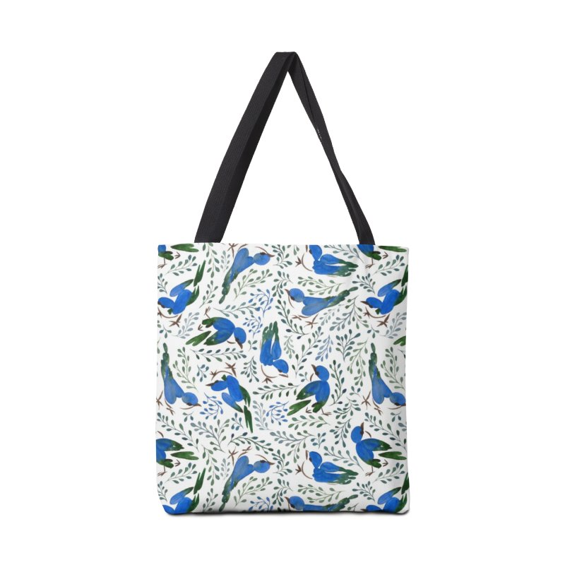 Birds in Summer Accessories Tote Bag Bag by milenabdesign's Artist Shop