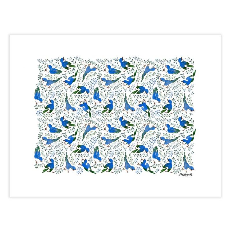 Birds in Summer Home Fine Art Print by milenabdesign's Artist Shop