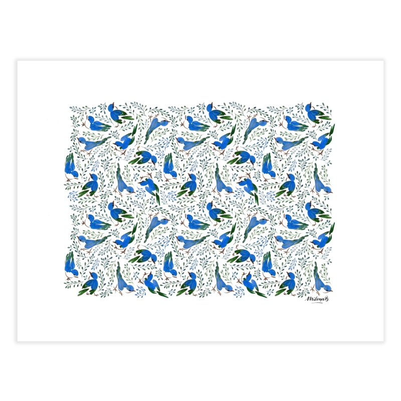 Birds in Summer Home Fine Art Print by milenabdesign's Artist Shop