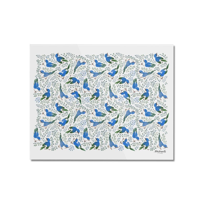 Birds in Summer Home Mounted Acrylic Print by milenabdesign's Artist Shop