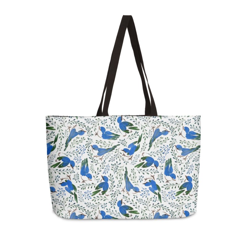 Birds in Summer Accessories Weekender Bag Bag by milenabdesign's Artist Shop