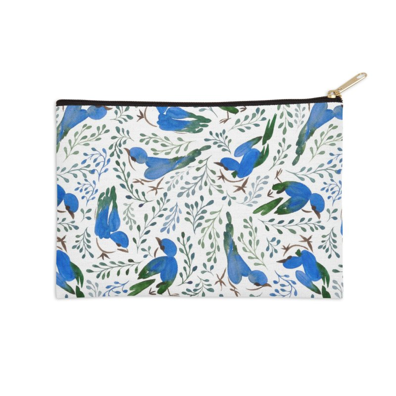Birds in Summer Accessories Zip Pouch by milenabdesign's Artist Shop