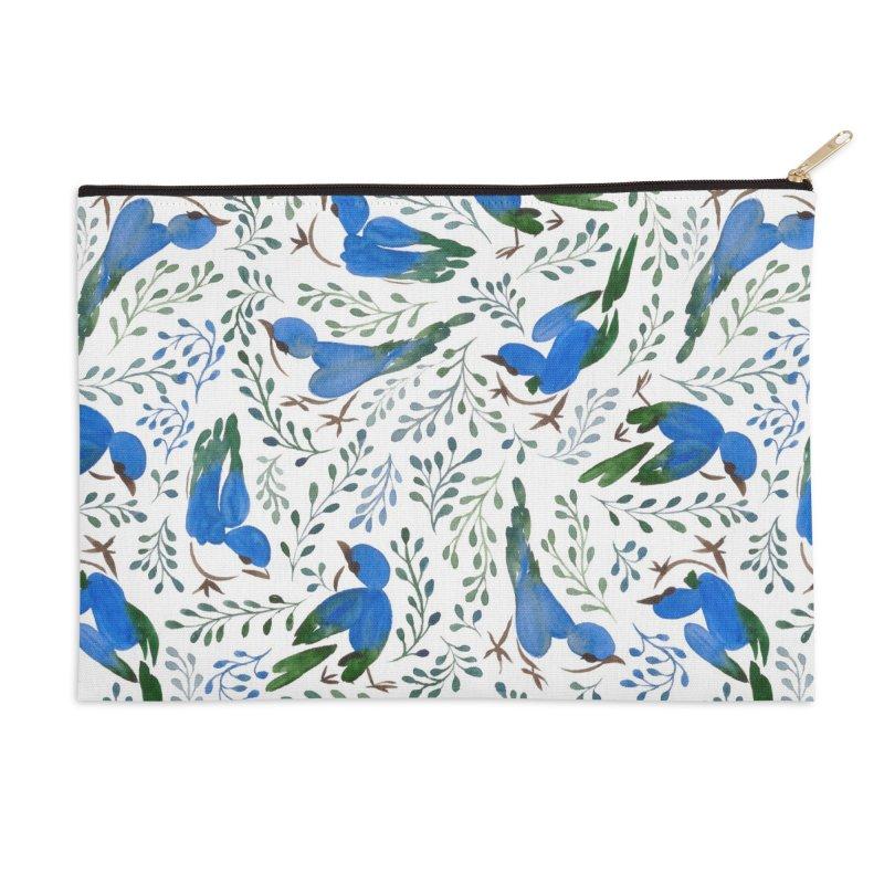 Birds in Summer Accessories Zip Pouch by milenabdesign's Artist Shop