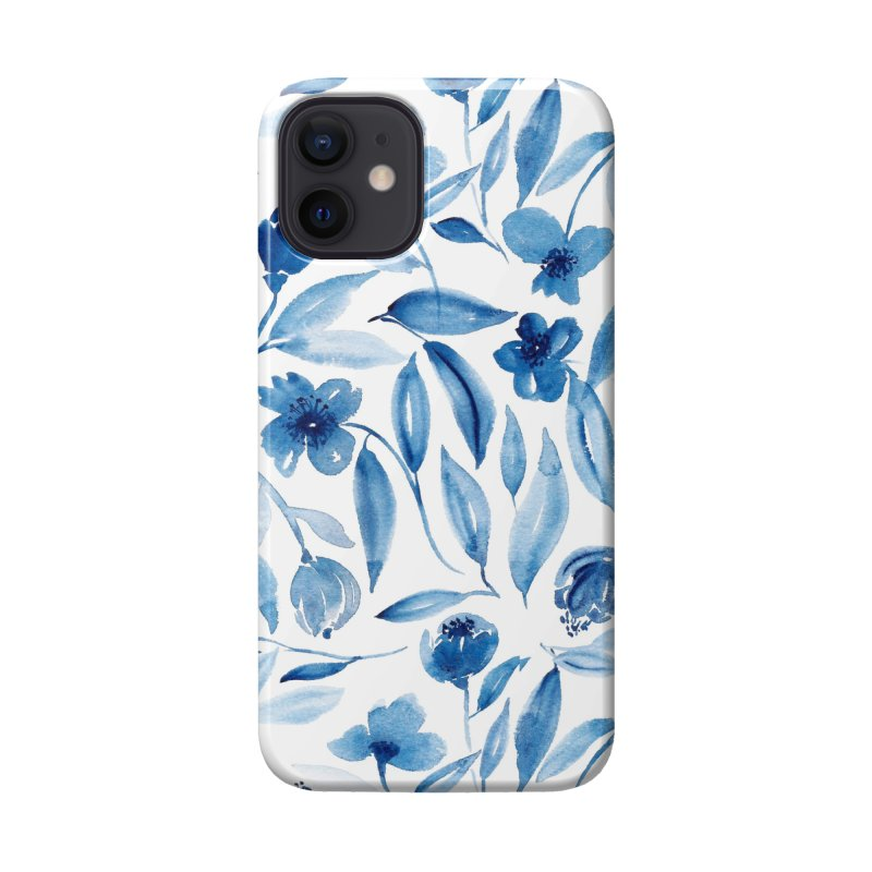 Prussian Floral Accessories Phone Case by milenabdesign's Artist Shop
