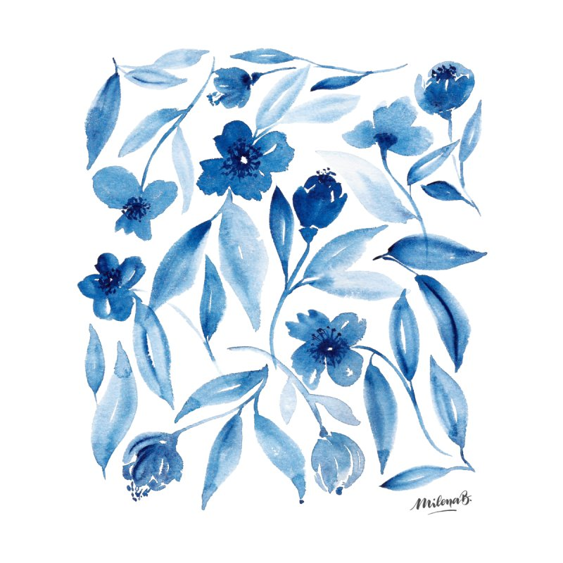 Prussian Floral by milenabdesign's Artist Shop