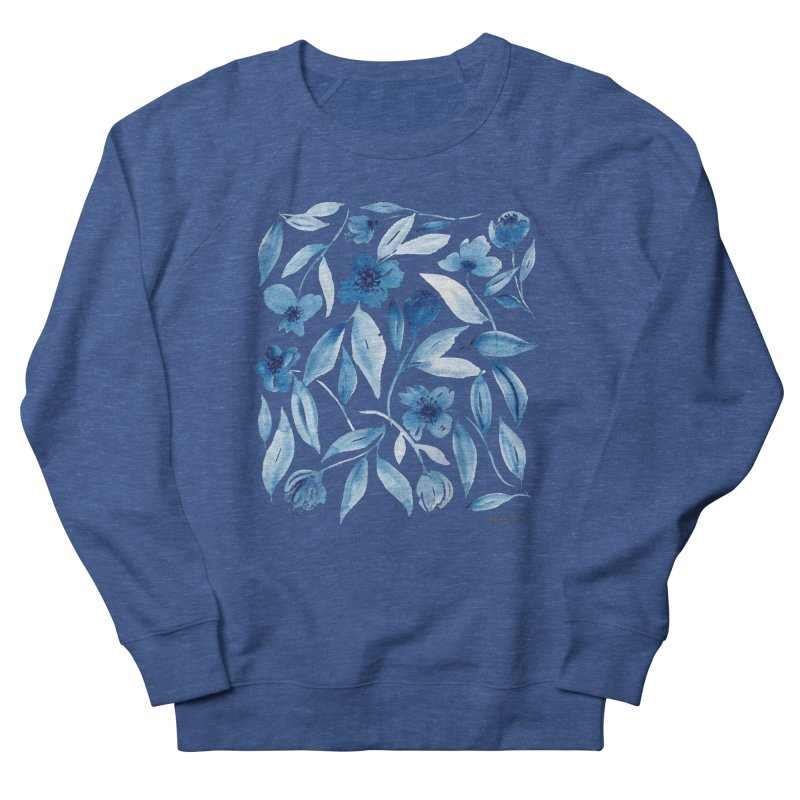 Prussian Floral Women's Sweatshirt by milenabdesign's Artist Shop