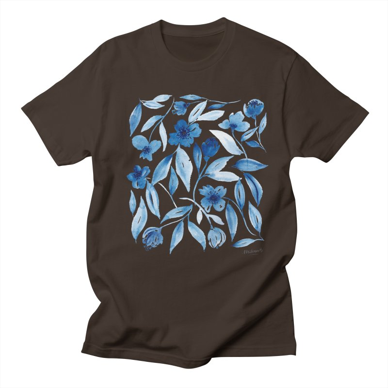 Prussian Floral Men's T-Shirt by milenabdesign's Artist Shop