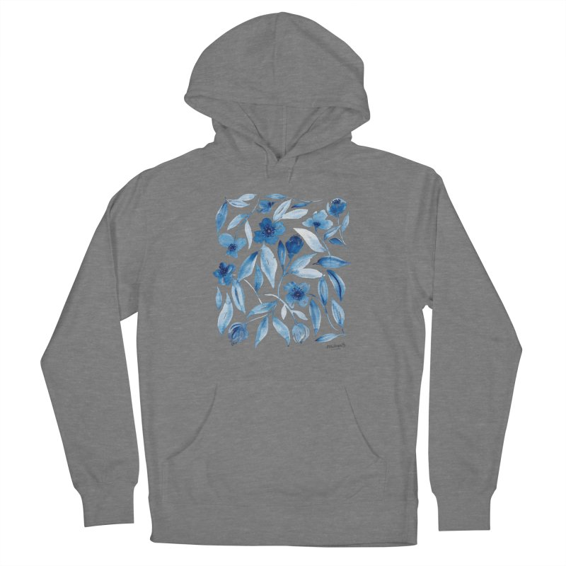 Prussian Floral Women's Pullover Hoody by milenabdesign's Artist Shop