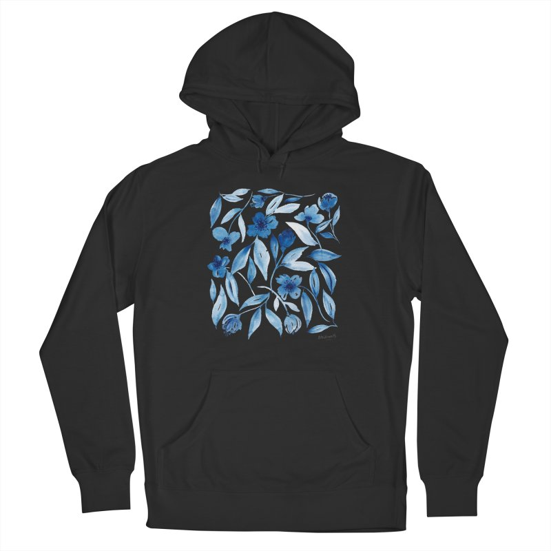 Prussian Floral Men's Pullover Hoody by milenabdesign's Artist Shop