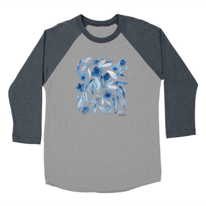Prussian Floral Women's Longsleeve T-Shirt by milenabdesign's Artist Shop