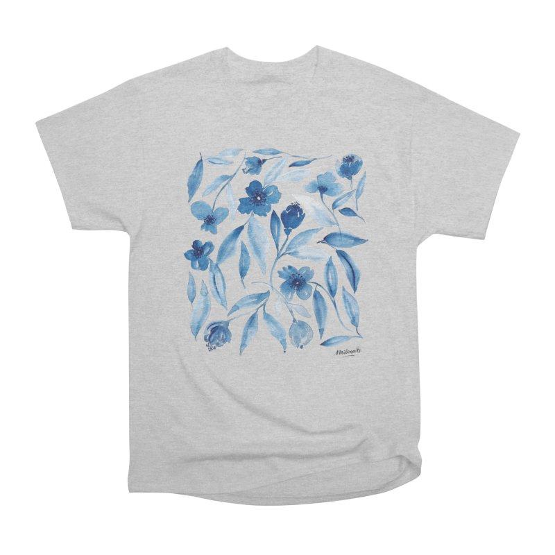 Prussian Floral Men's Heavyweight T-Shirt by milenabdesign's Artist Shop
