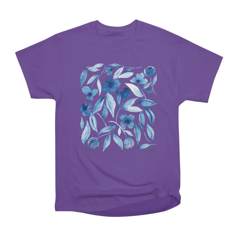 Prussian Floral Men's T-Shirt by milenabdesign's Artist Shop
