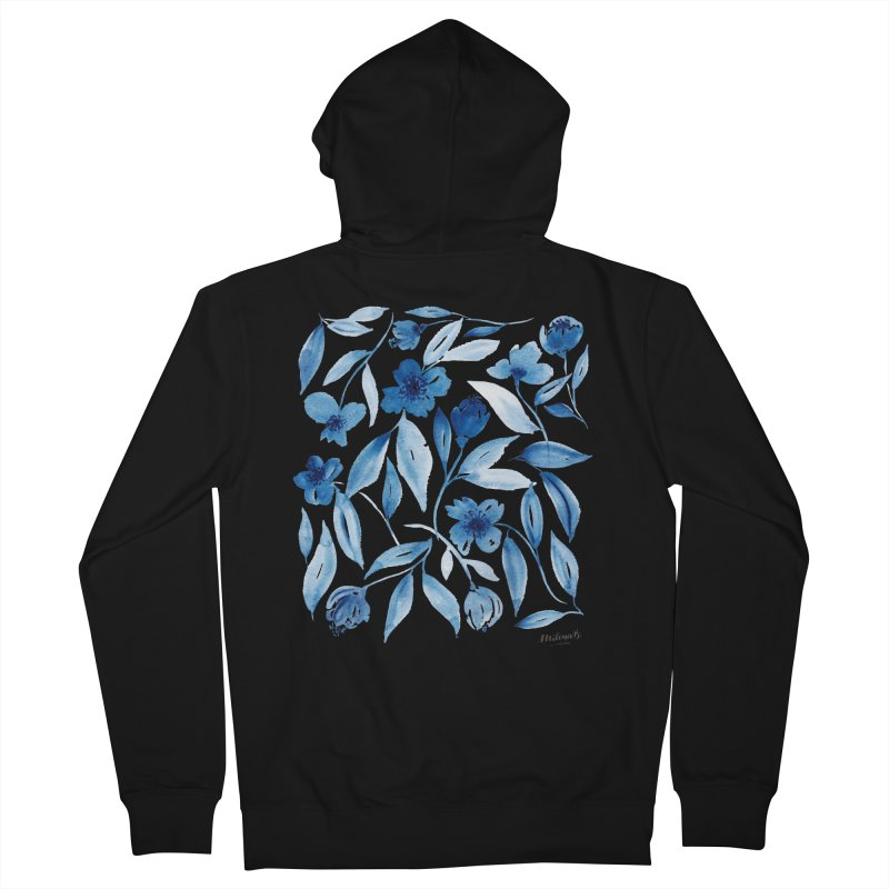 Prussian Floral Women's Zip-Up Hoody by milenabdesign's Artist Shop