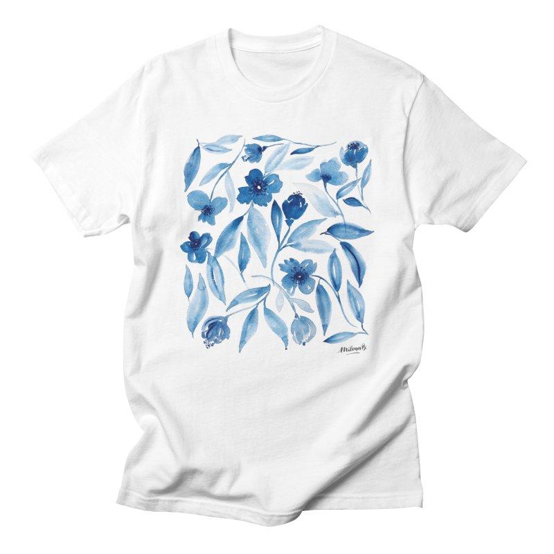Prussian Floral Women's T-Shirt by milenabdesign's Artist Shop
