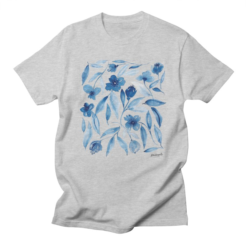 Prussian Floral Women's T-Shirt by milenabdesign's Artist Shop