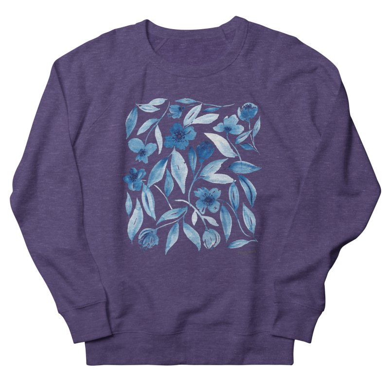 Prussian Floral Men's French Terry Sweatshirt by milenabdesign's Artist Shop