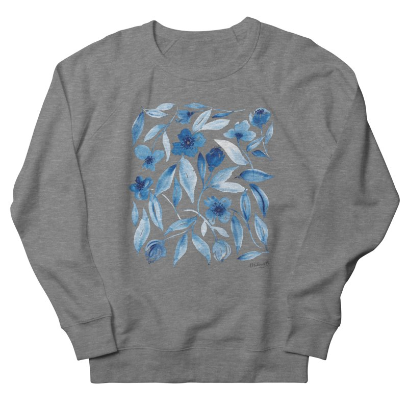 Prussian Floral Men's Sweatshirt by milenabdesign's Artist Shop