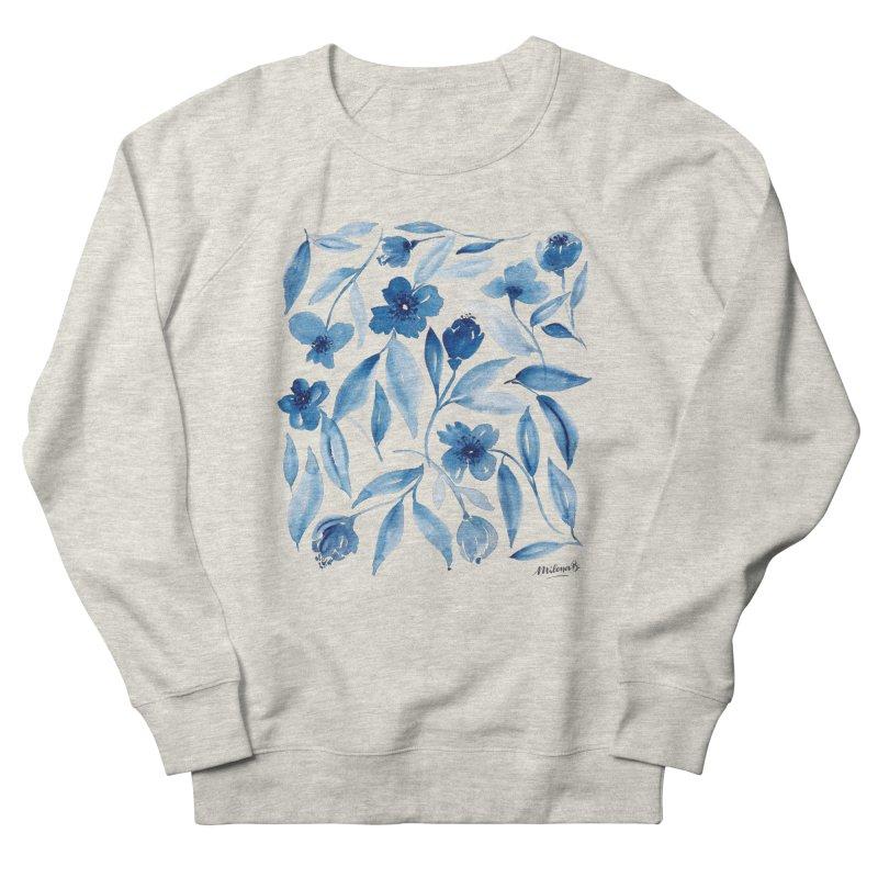 Prussian Floral Men's Sweatshirt by milenabdesign's Artist Shop