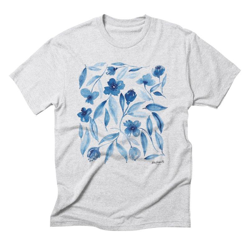 Prussian Floral Men's Triblend T-Shirt by milenabdesign's Artist Shop